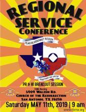 Tejas Bluebonnet Regional Service Conference